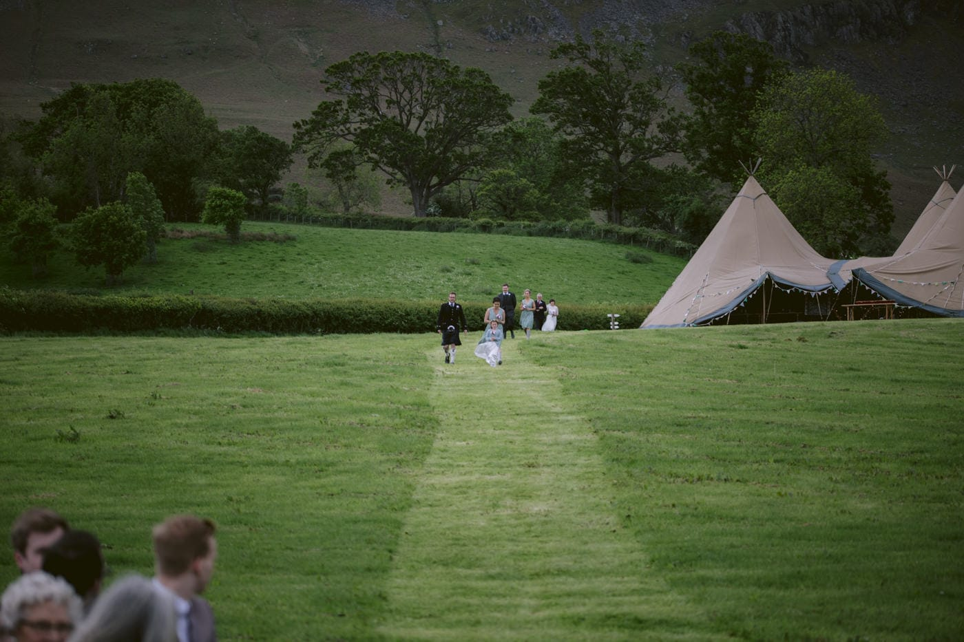 Field view of Venue at Tipi Wedding On The Shores Of Ullswater