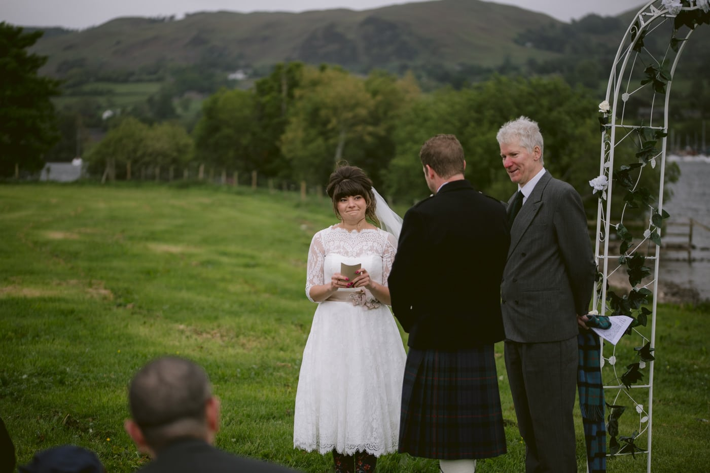 Portrait of Bride to be at Tipi Wedding On The Shores Of Ullswater