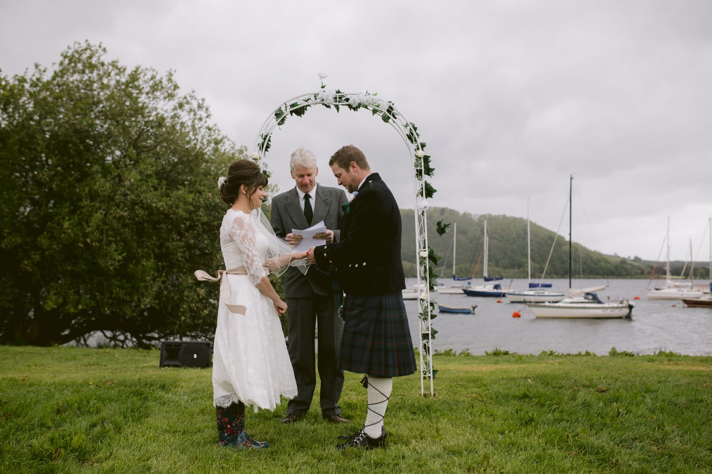 Charlotte and Jack Tieing the Knot at Tipi Wedding On The Shores Of Ullswater