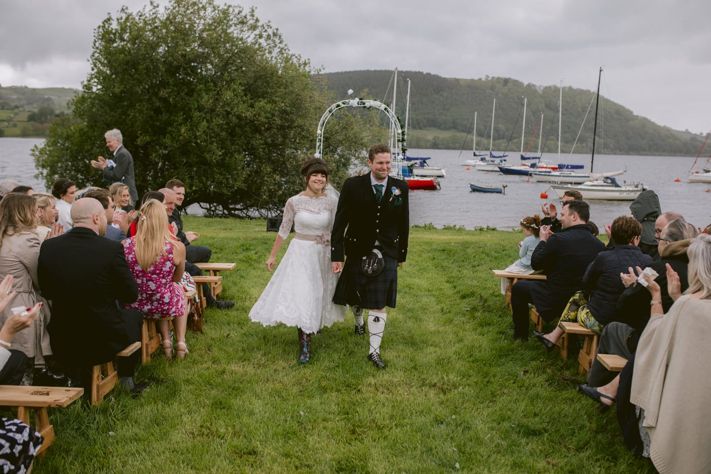 Bride and Groom Married On The Shores Of Ullswater