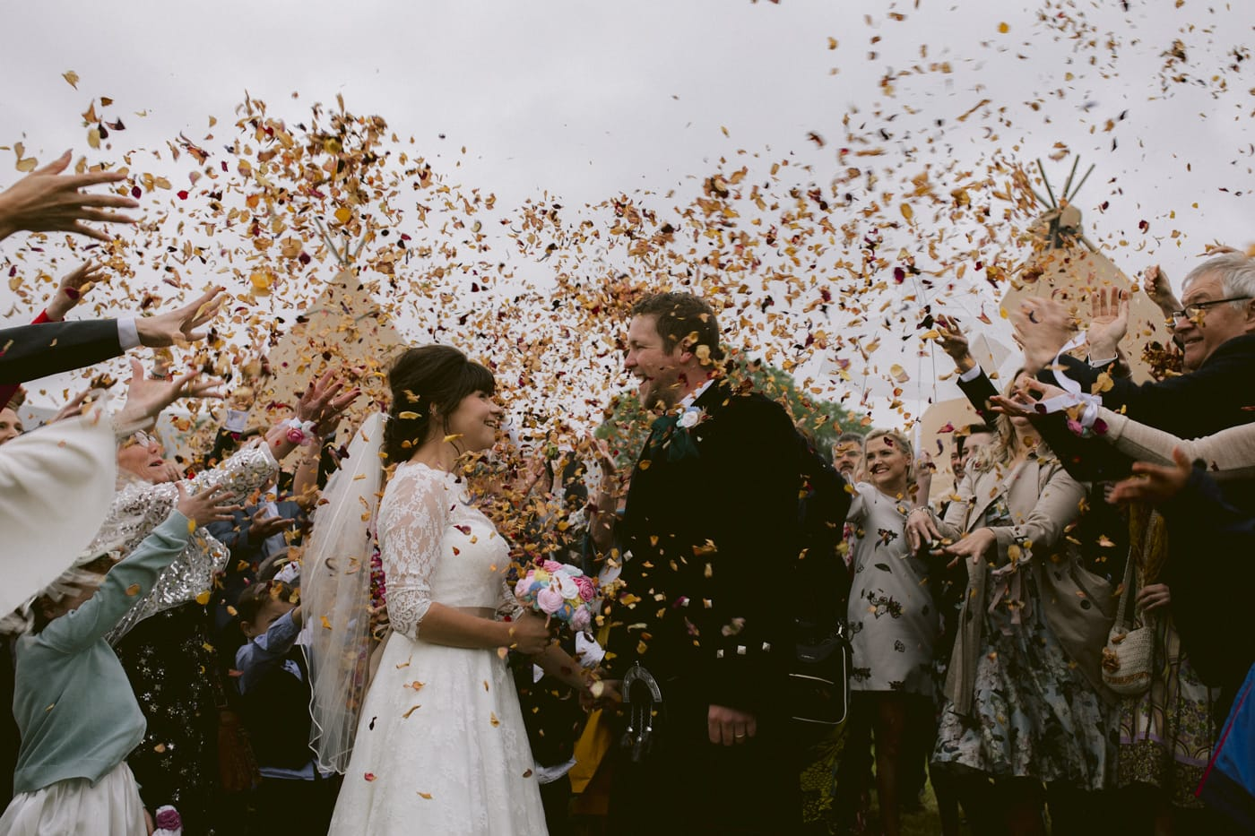 Confetti in Celebration of Wedding Photography