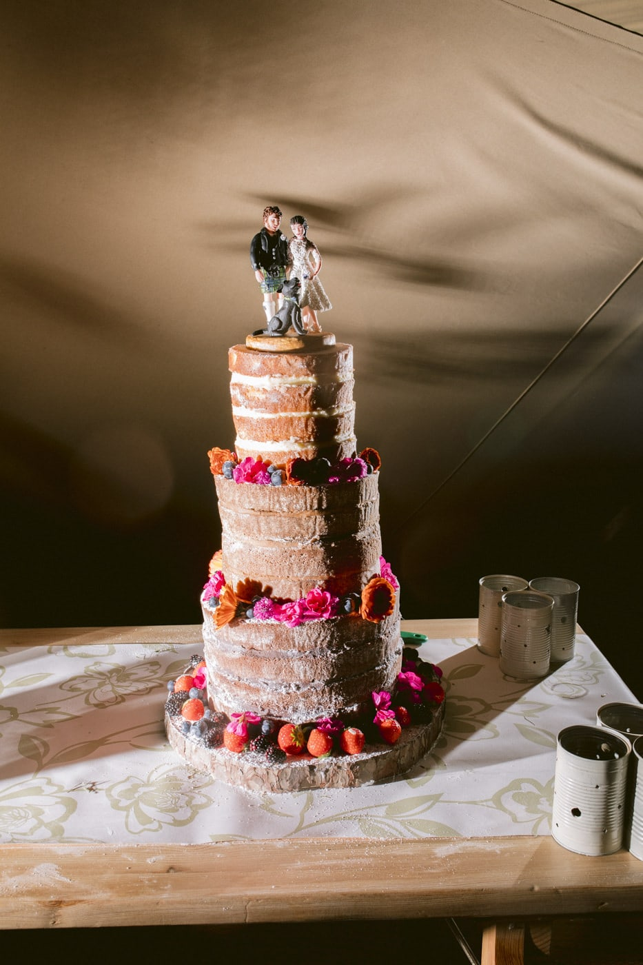 Charlotte and Jack Wedding Cake Photograph