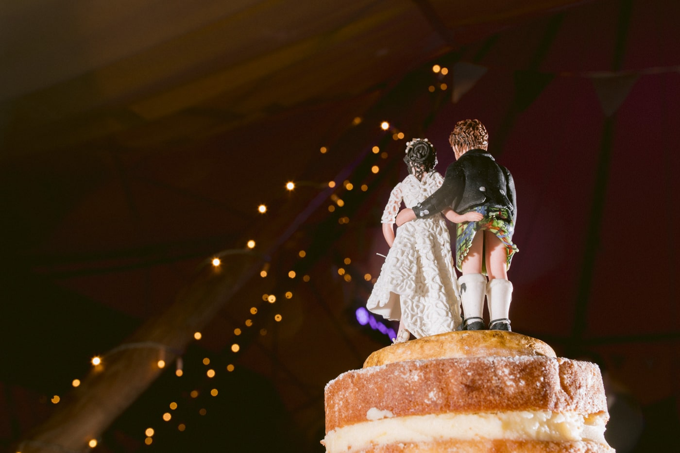 Confetti over the Wedding Cake Photograph