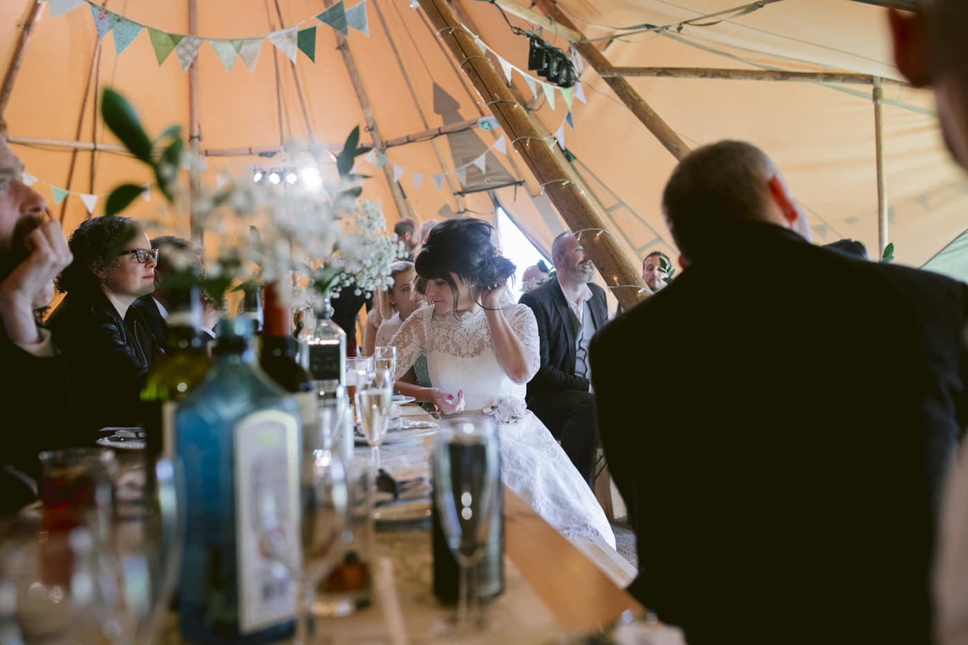 Bride and Decorative Tipi Tent