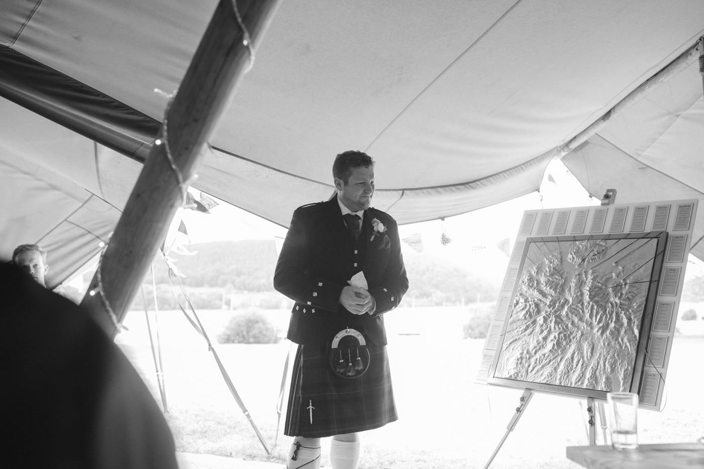 Groom Speech Under Tipi Tent Wedding Venue