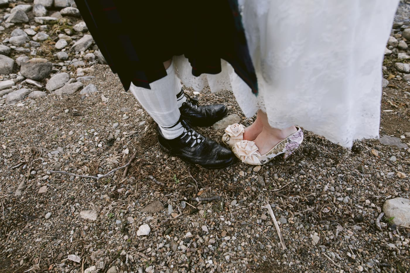 Portrait Image of Married Couple Shoes and Feet