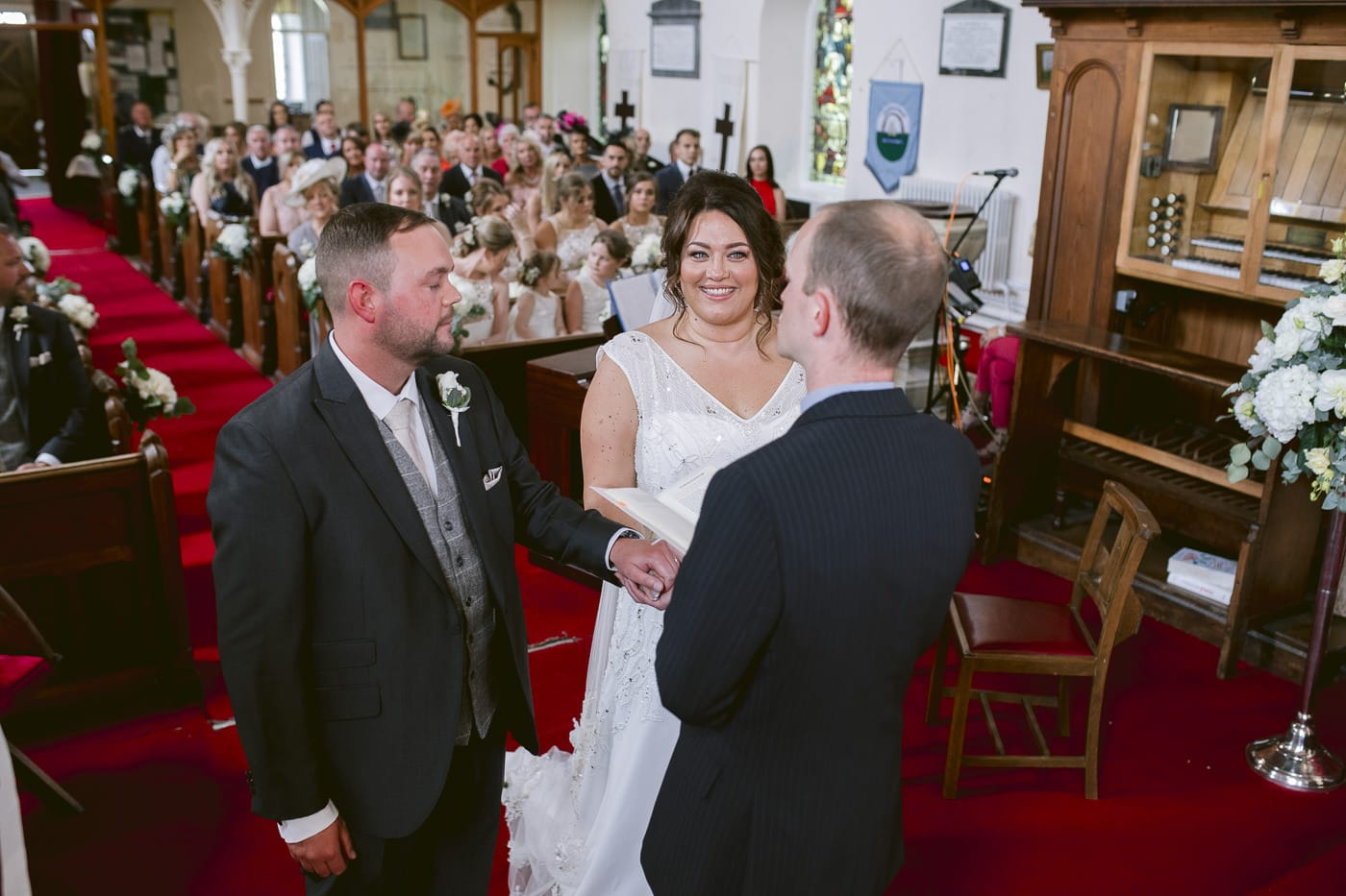Wedding Vowels with Minister and Bride and Groom in Irton Hall Cumbria