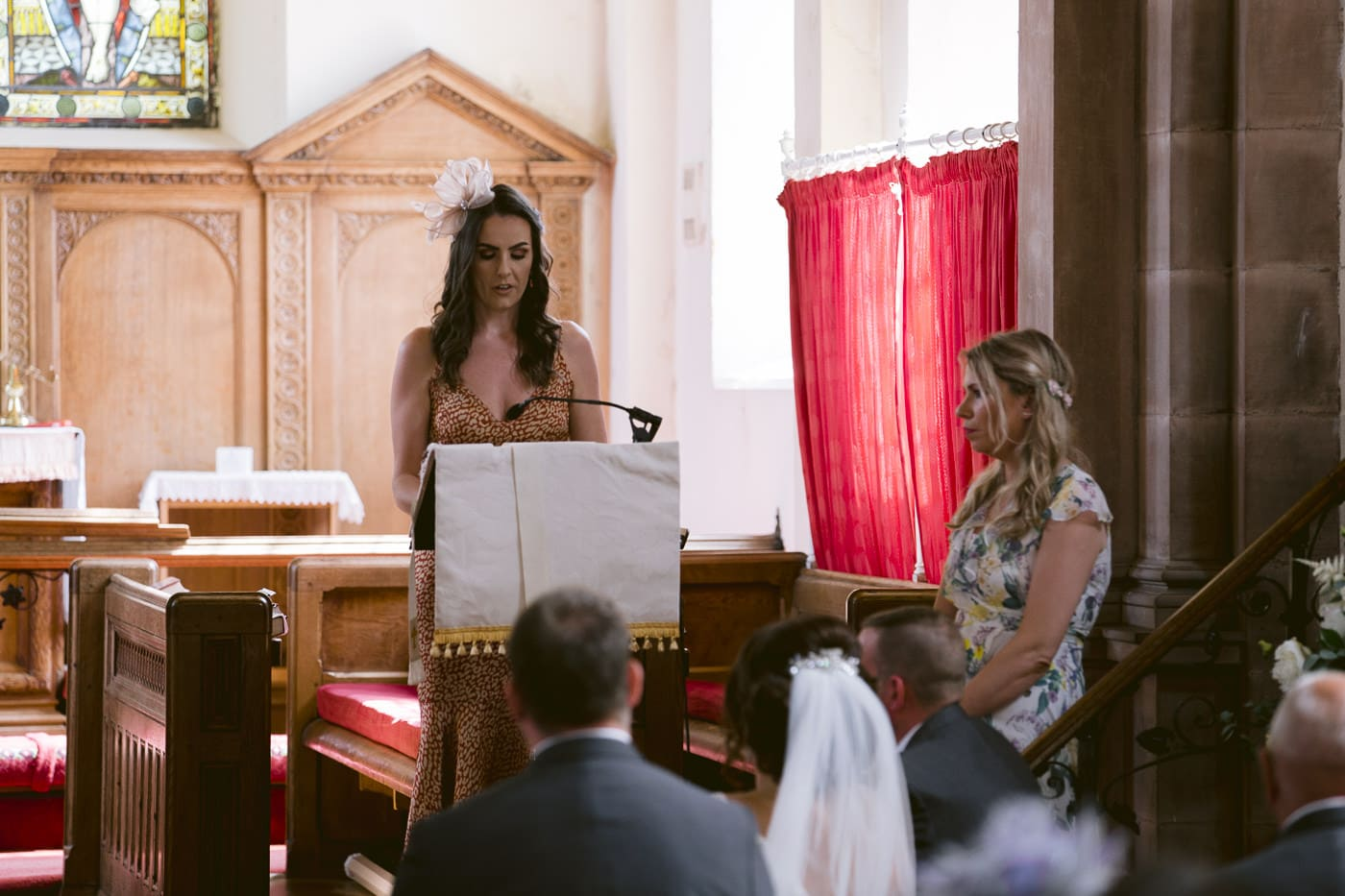 Irton Hall Church Wedding Readings with Guests in Cumbria