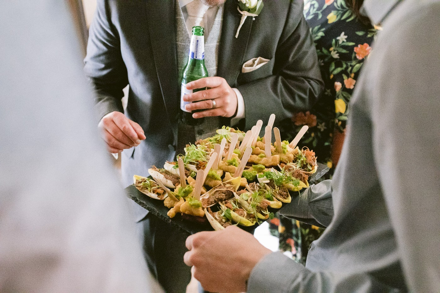Guest Been Served Food in Reception Photography Wedding Session