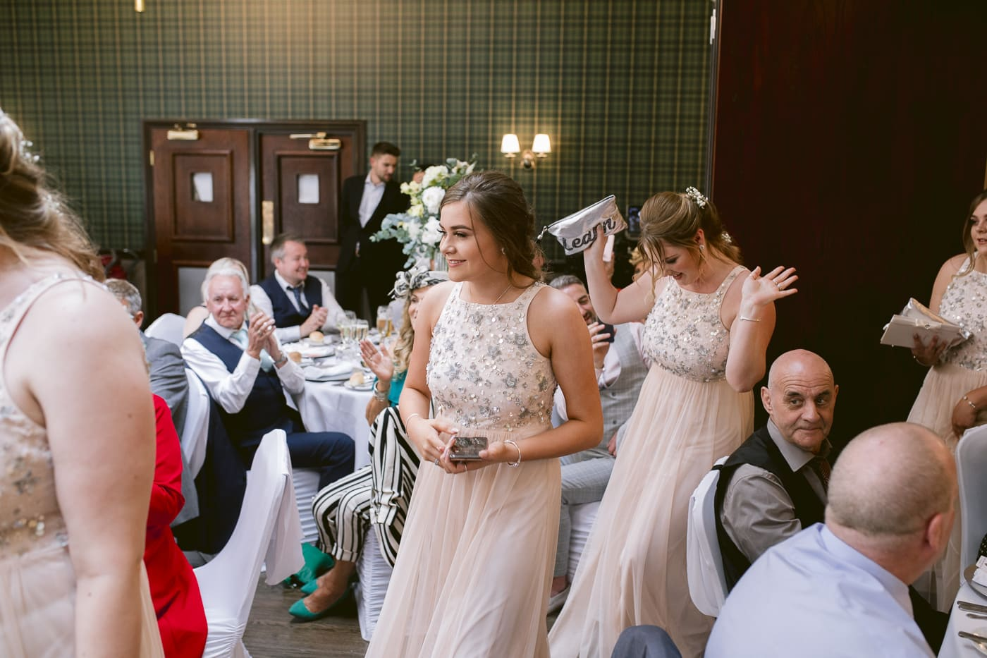 Guests and Bridesmaids in Main Hall Portrait Shoot