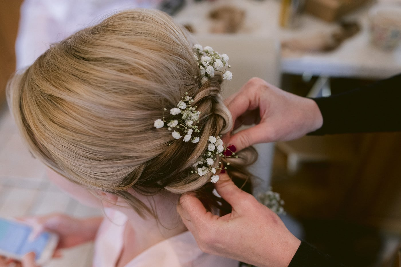 Wedding Day Hair Brooch Photography at Irton Hall Cumbria