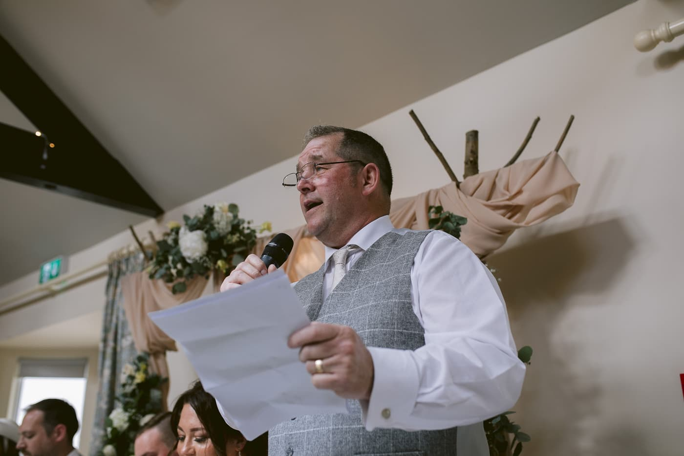 Man in Suit Giving Wedding Speech to the Guests Photography Portrait Shoot