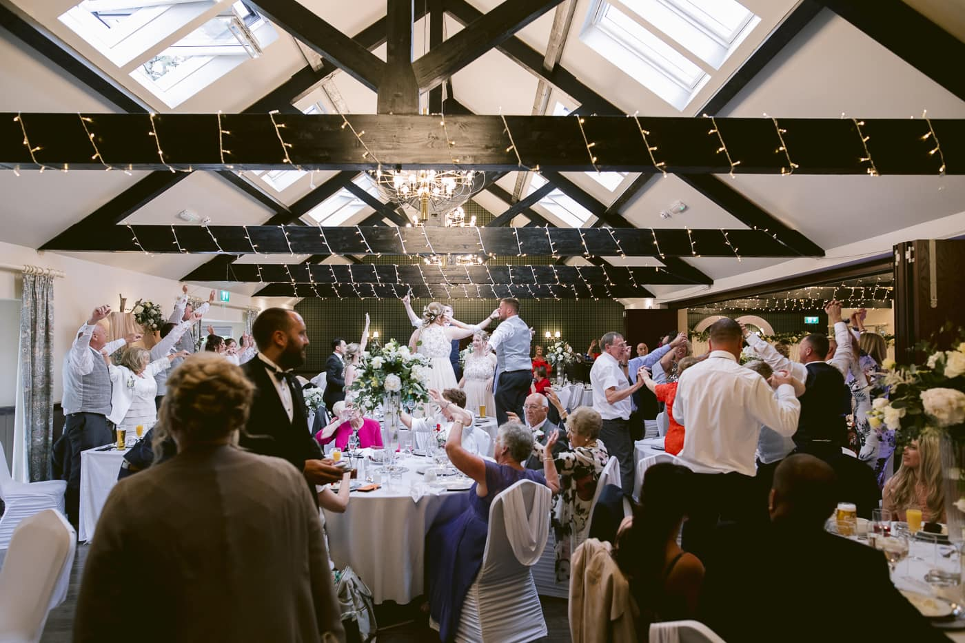 Reception Room Filled with Guests at Irton Hall Cumbria