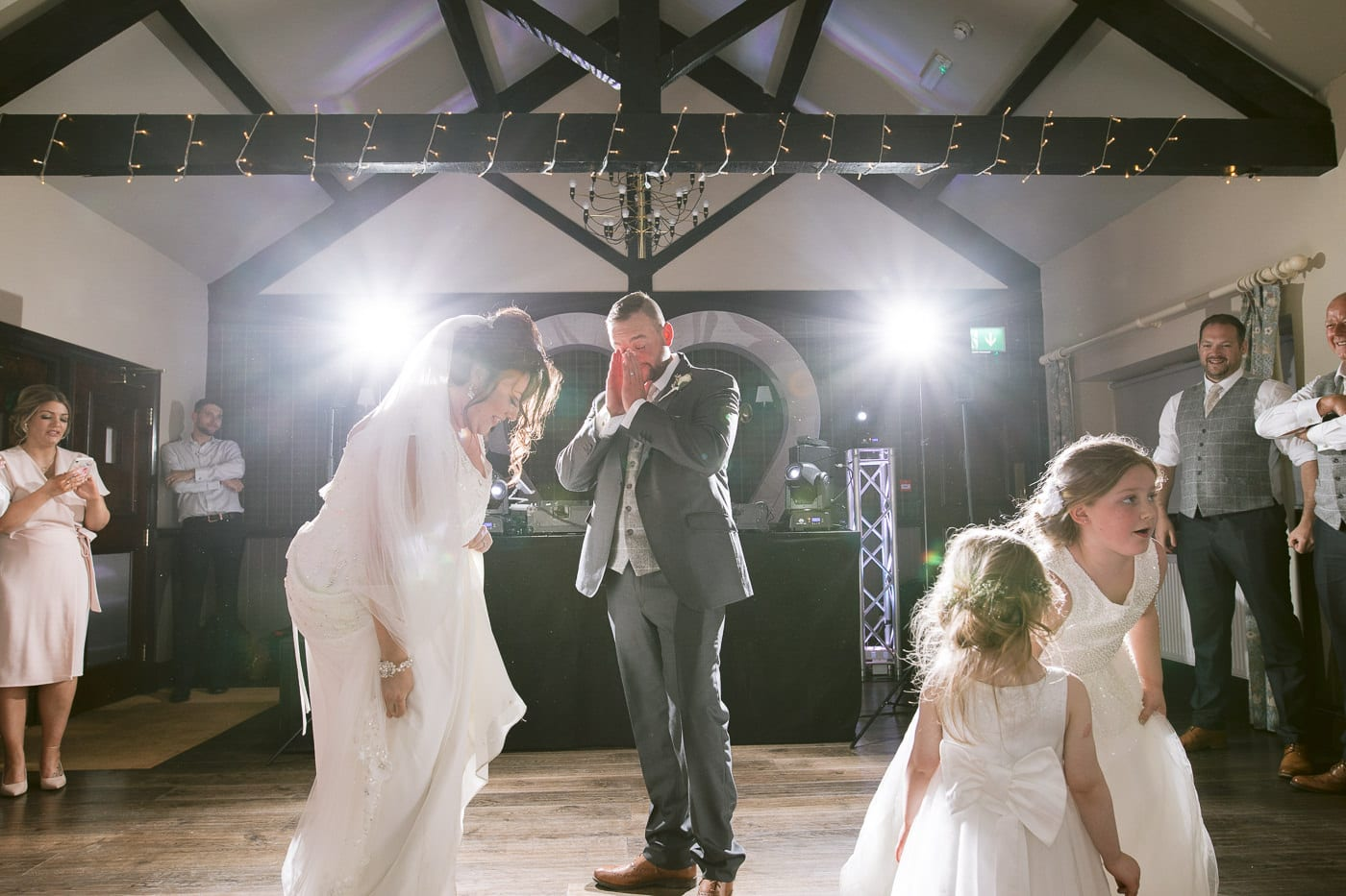 Bride and Groom Wedding Dance in Main Hall Photography Portrait
