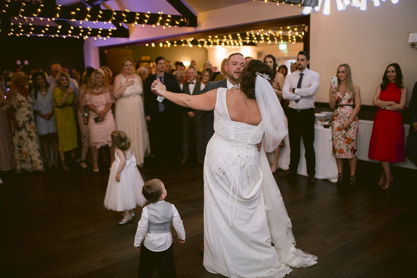 Bride and Groom First Dance With Small children Photo Shoot