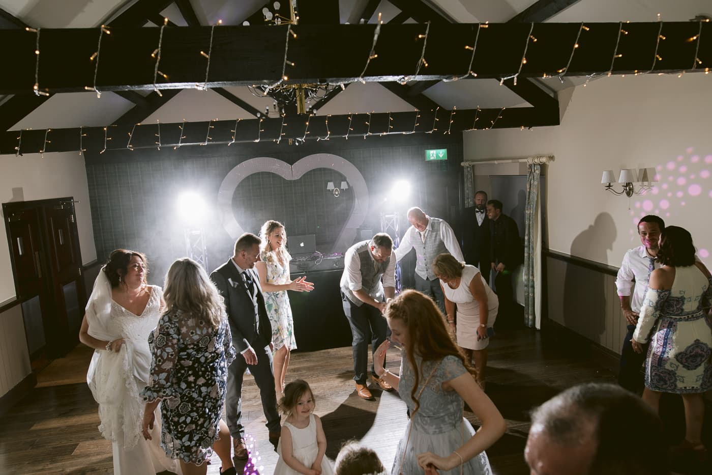 Guests and Bride and Groom Photography Session at Irton Hall Cumbria