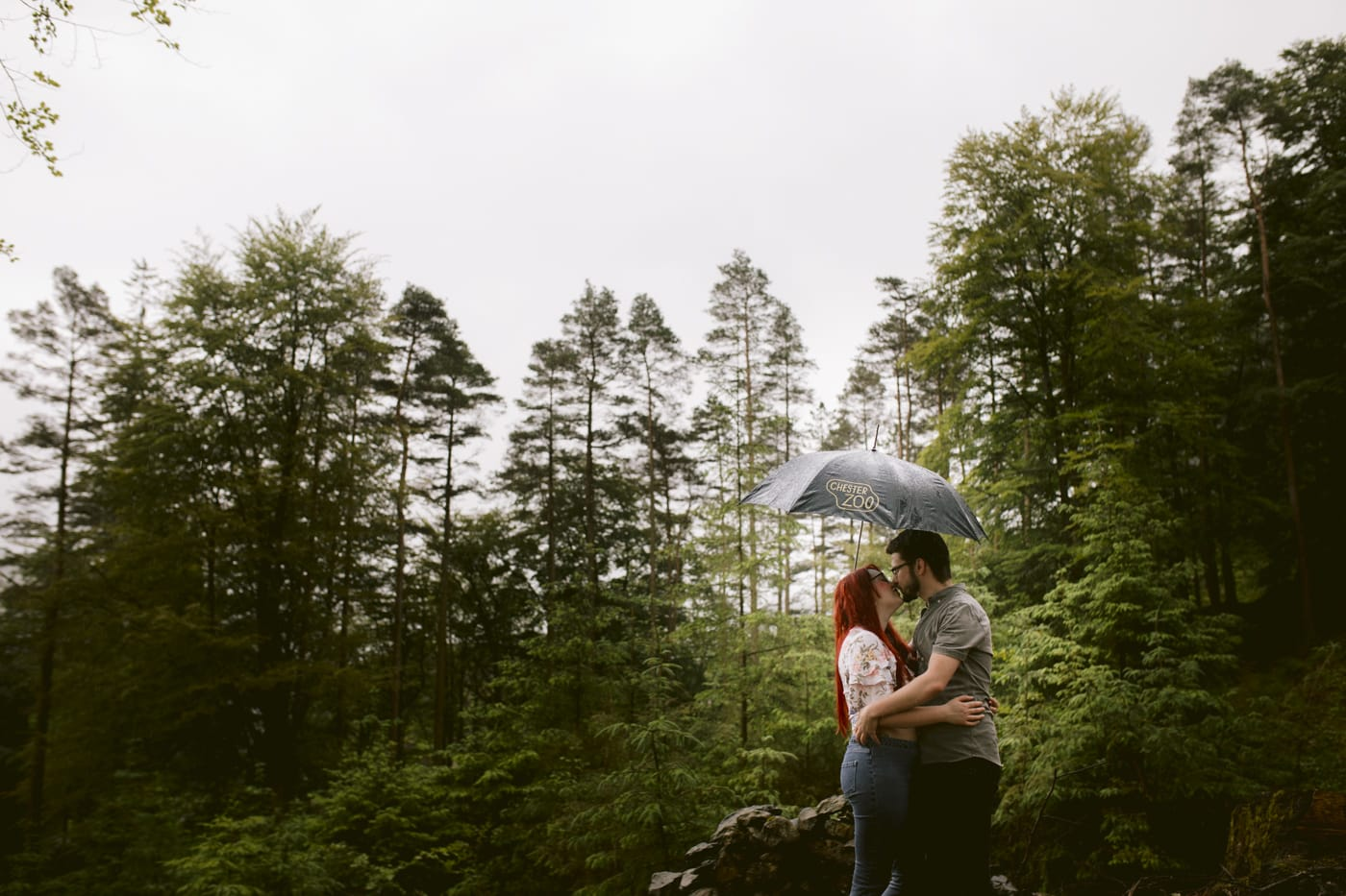 Raining Forest Couple Portrait Session