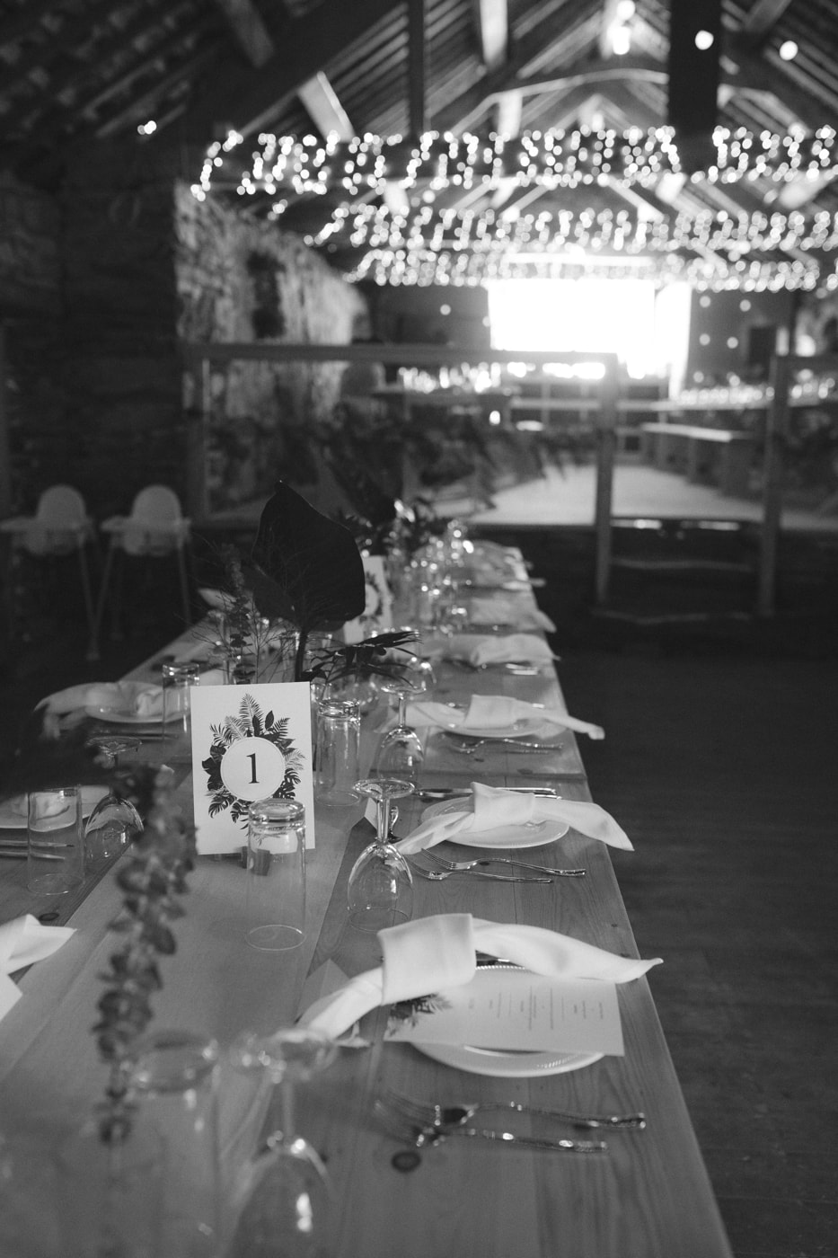 Decorative Reception Tables at Yew Tree Farm Wedding