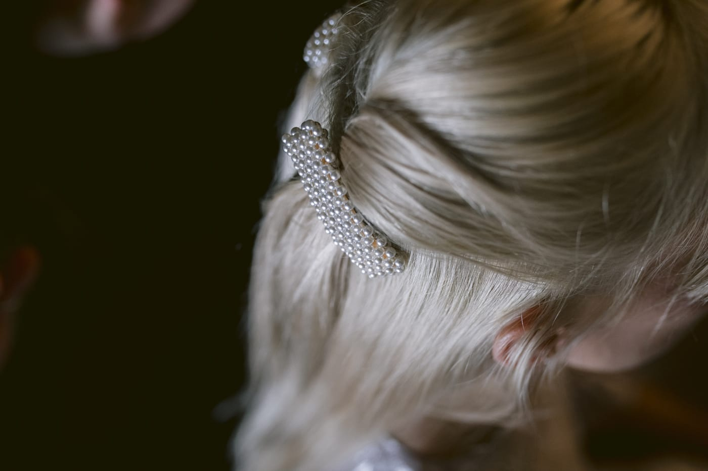Bridal Hair Pin Portrait Session at Yew Tree Farm Wedding