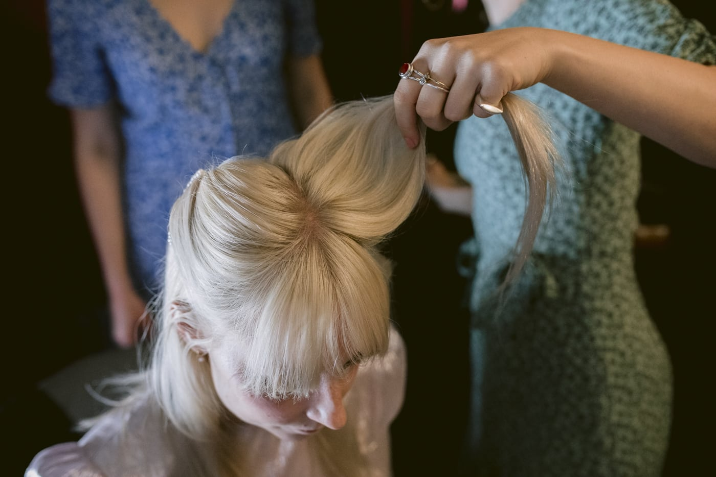 Bride Getting Ready Portrait Session at Yew Tree Farm Wedding