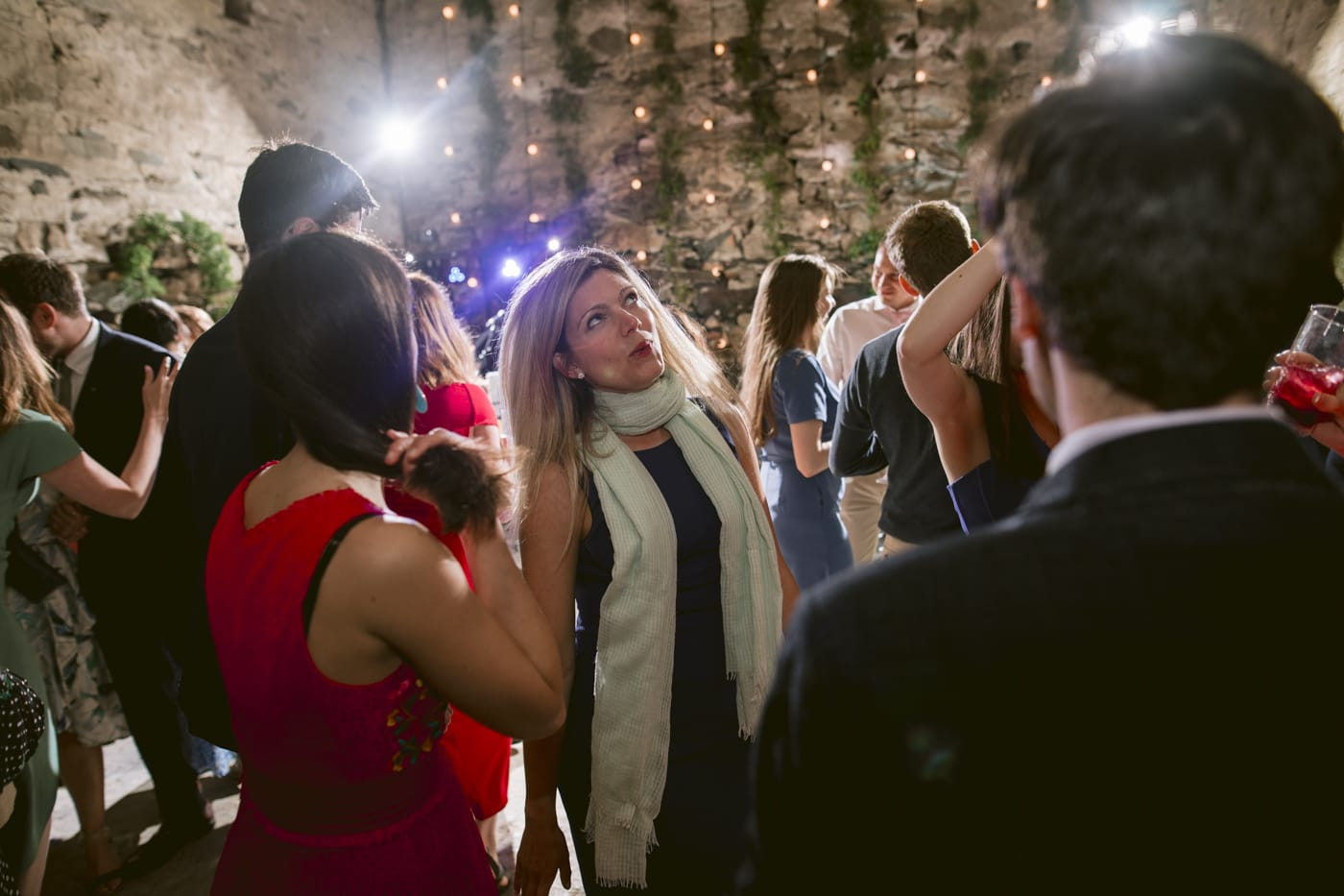 Guests in Main Hall interacting and Dancing Portrait Session