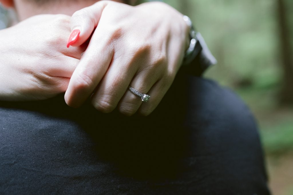Bride to Be Engagement Ring Closeup Portrait Session