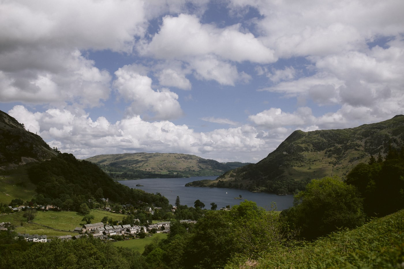 View from up High in the Lakes Portrait Session