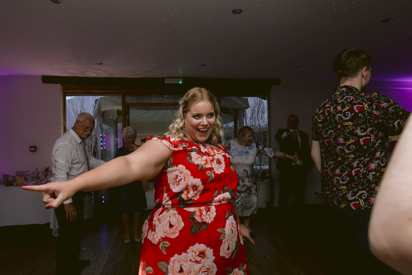 Outstretched Dance move of Guest on Dance Floor in Main Reception Hall Portrait