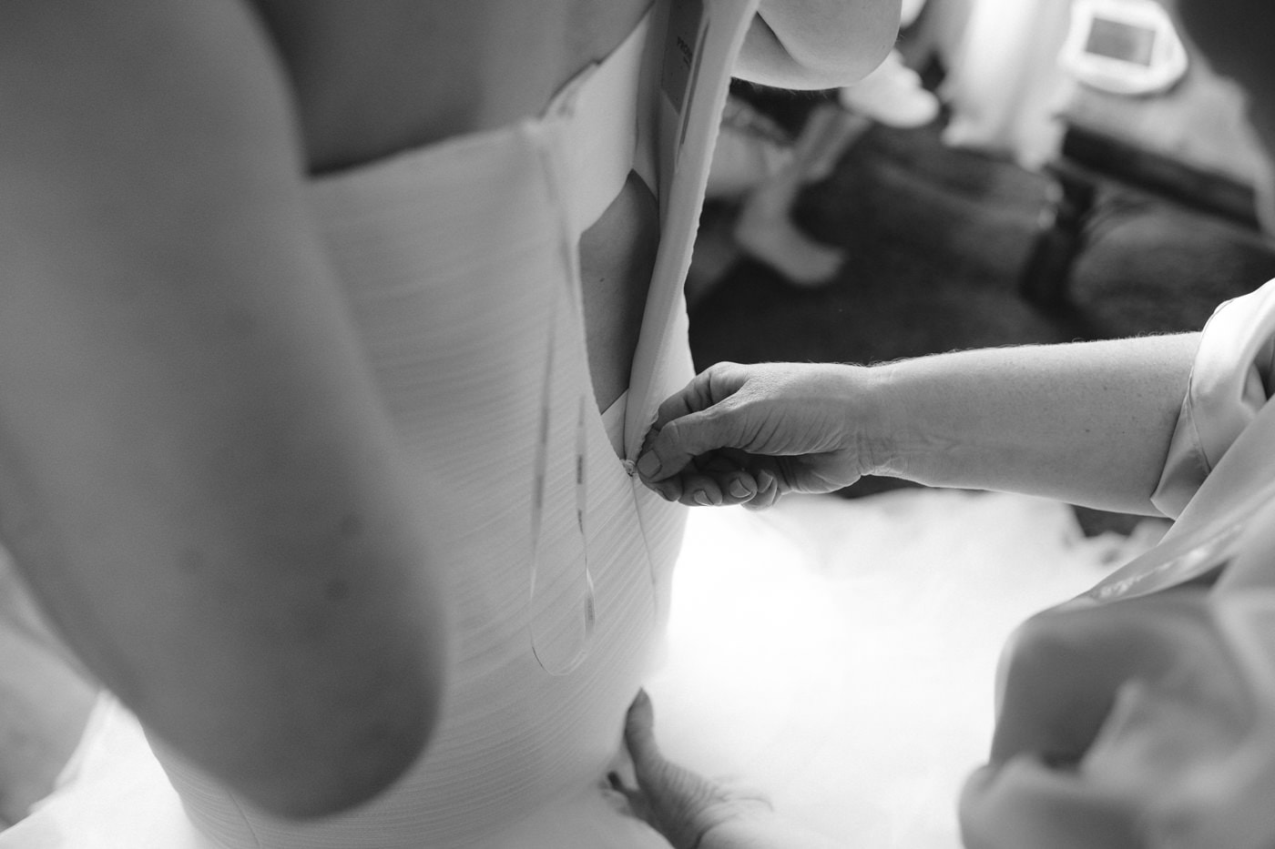 Wedding Dress Preparation Photography Portrait Session