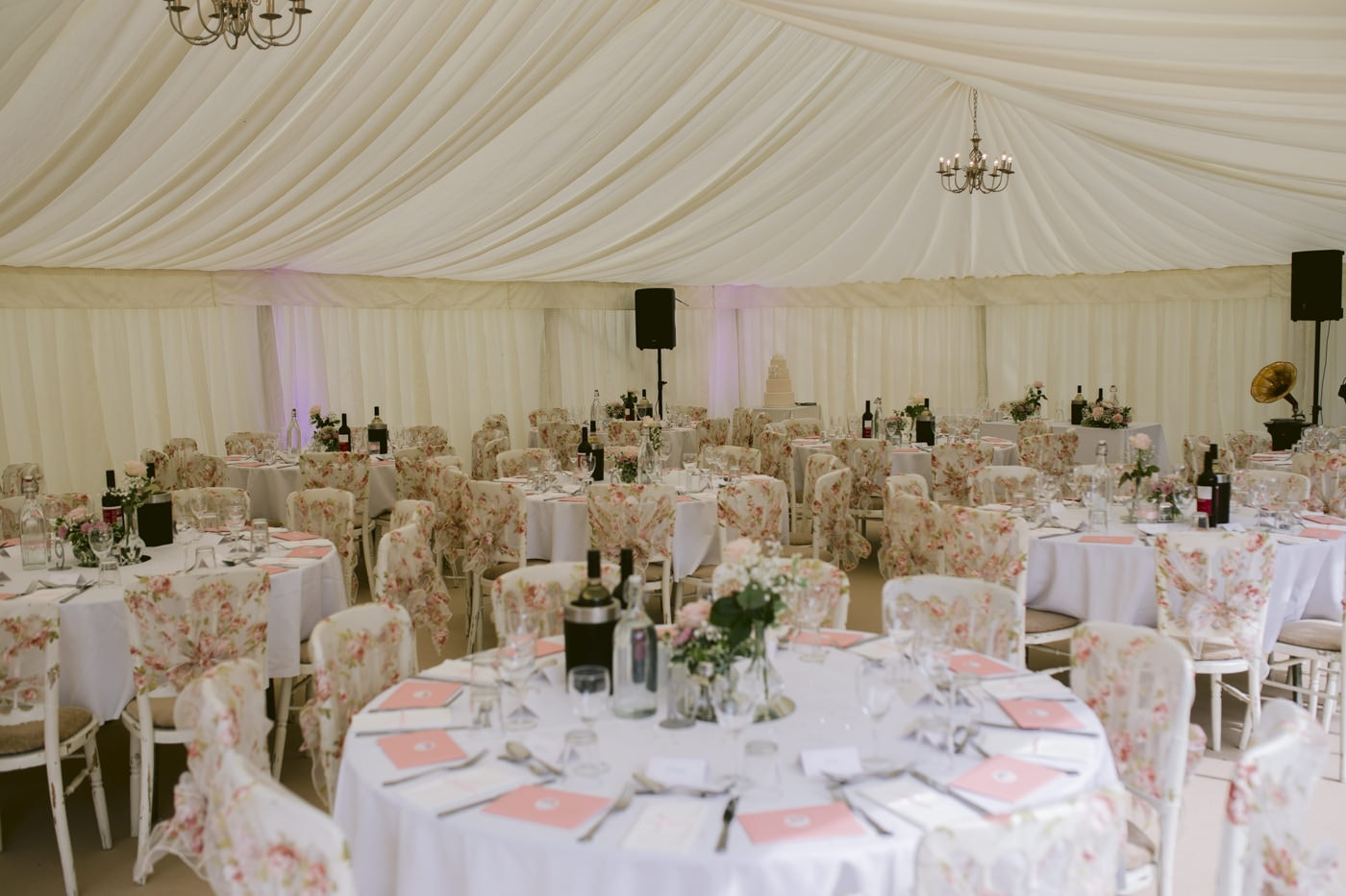 Main Wedding Reception Tables and Decorative chairs