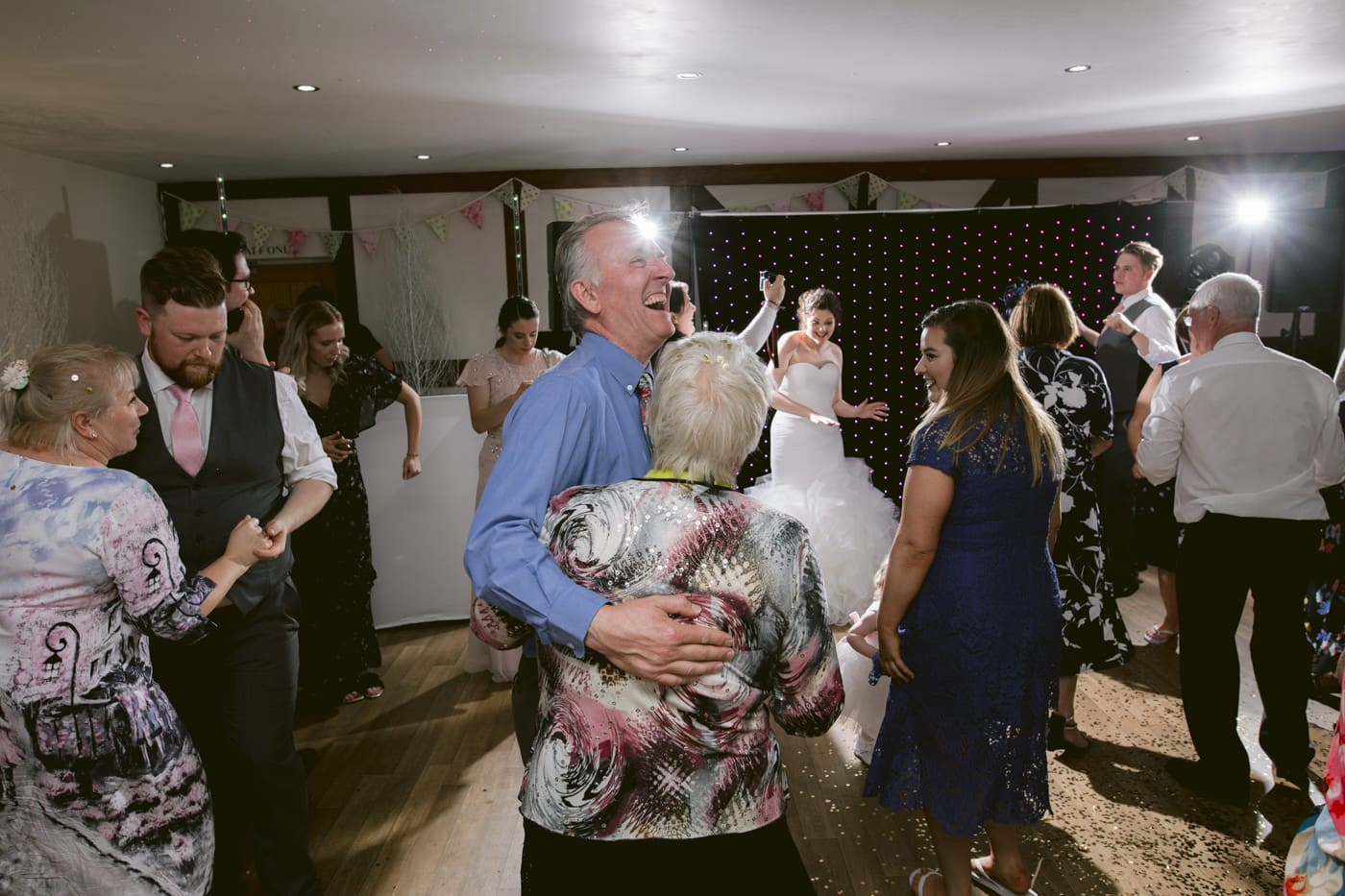 Older Couples Dance with Other Guests Photography