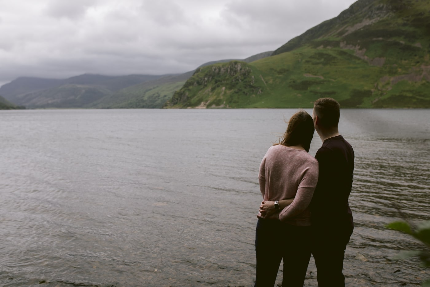 Couple by the Lake at Ennerdale Water