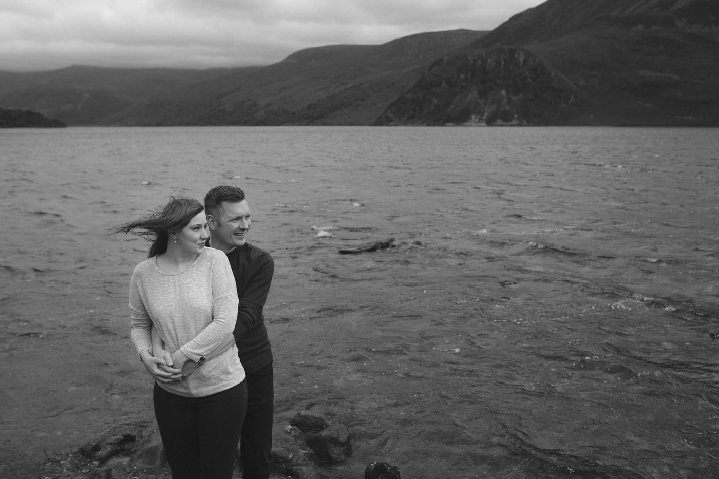 Ennerdale Water Portrait Session of Couple