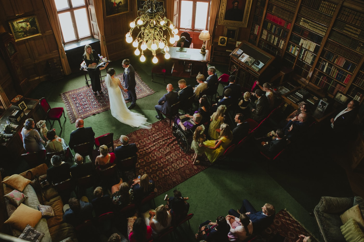 Second shooter photograph from above the ceremony room