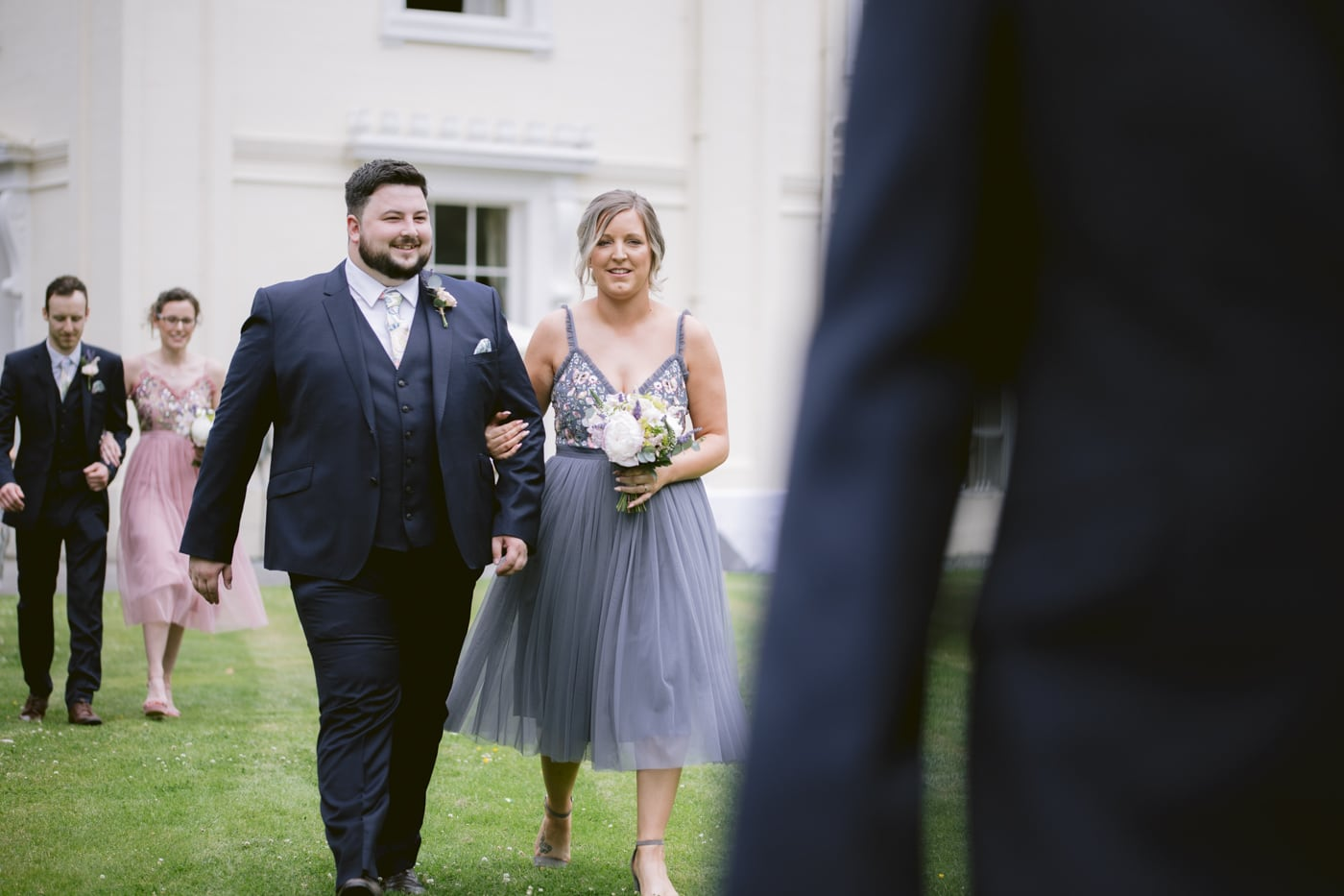 Guests walking Portrait at Storrs Hall Wedding