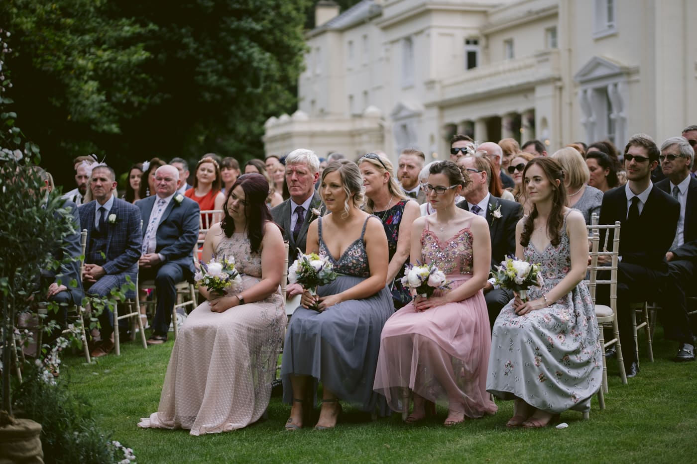 Bridesmaids Seated at Storrs Hall Wedding