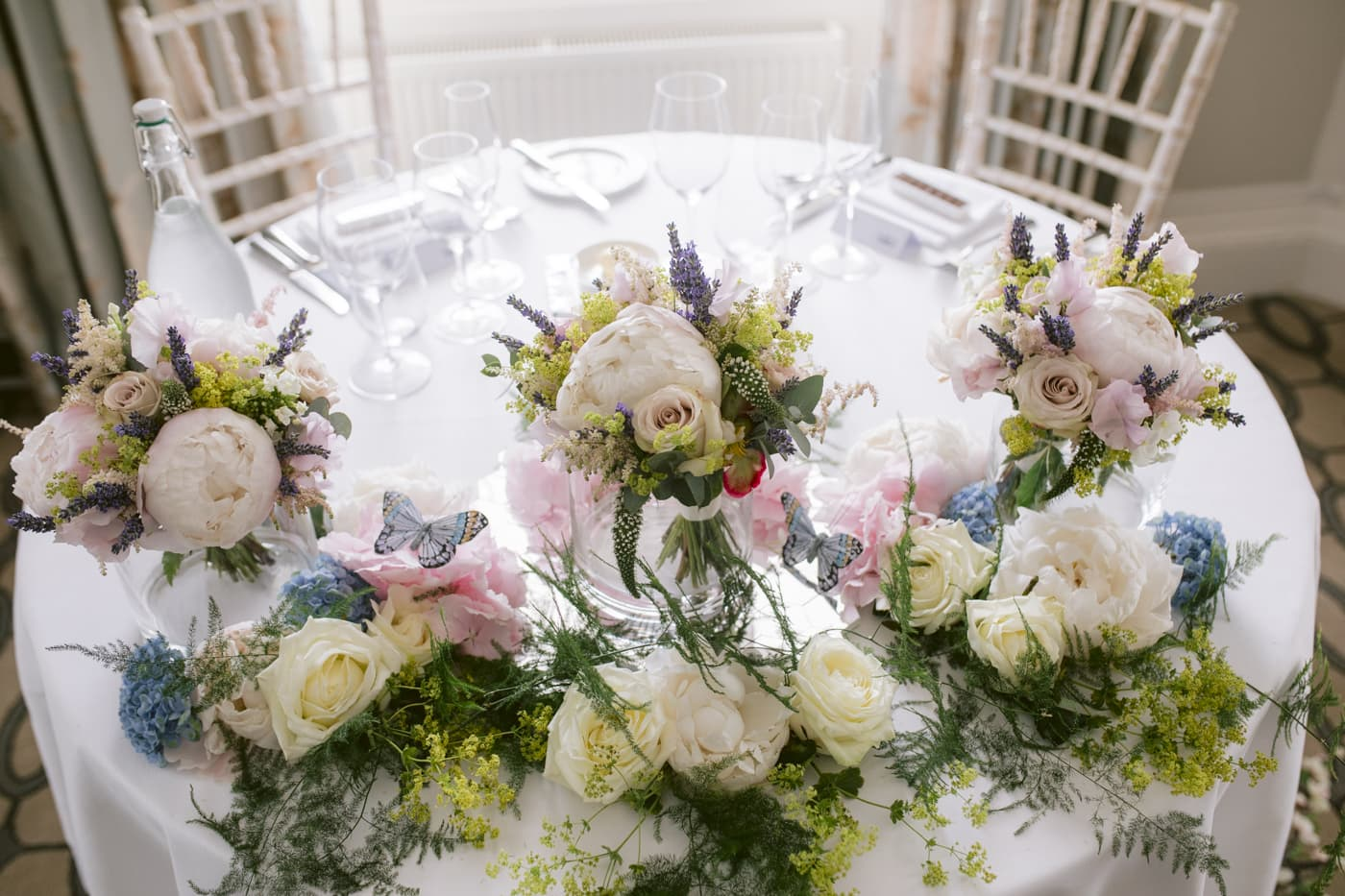 Colourful Wedding Flowers at Storrs Hall Wedding