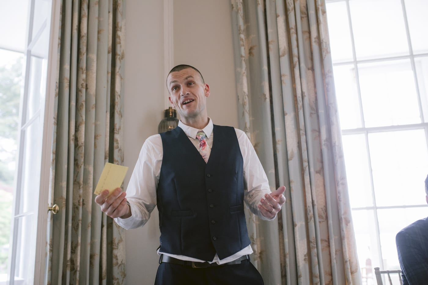 Guest Open Arms Wedding Speech at Storrs Hall Wedding