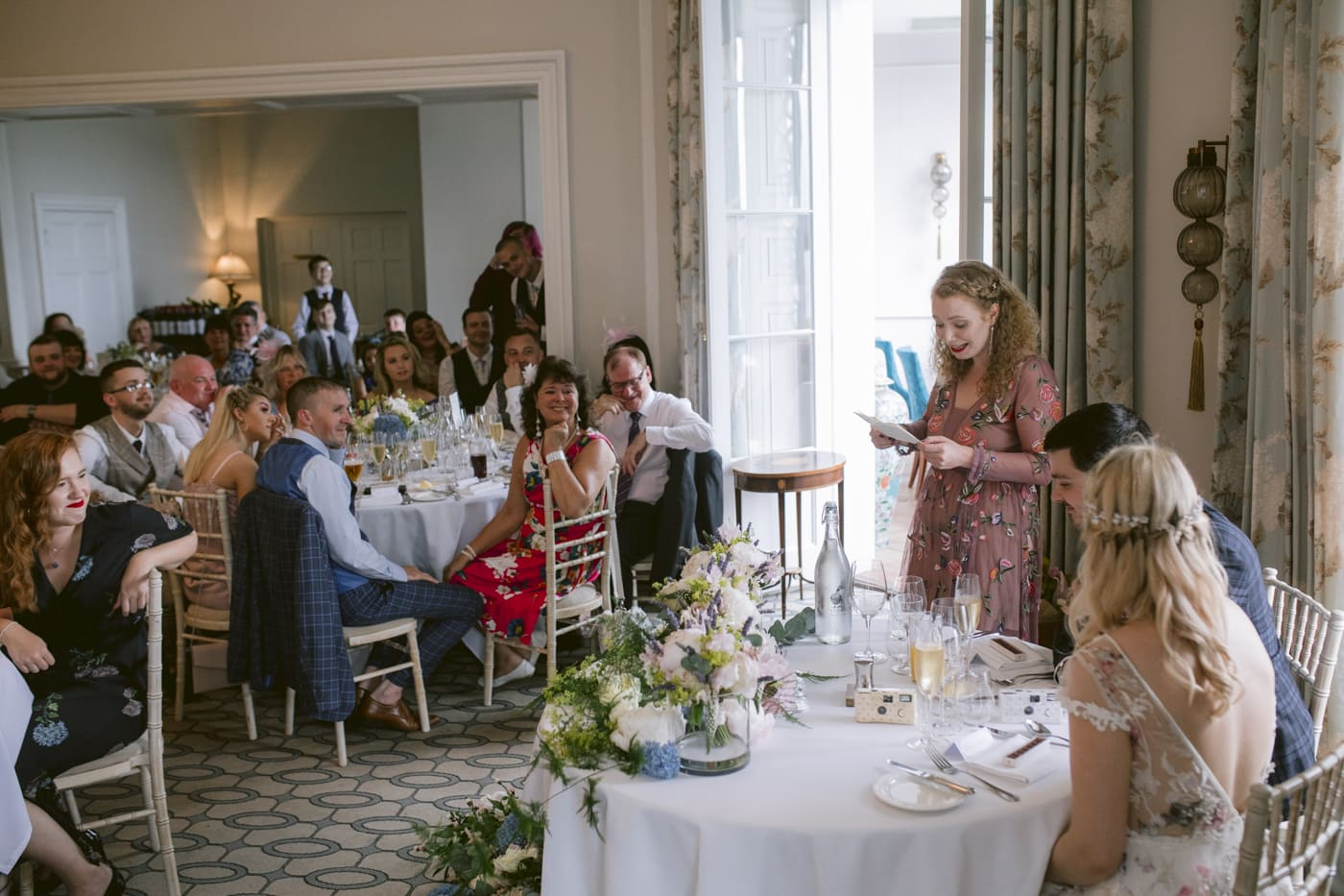 Guests and Guest Woman Speech at Storrs Hall Wedding