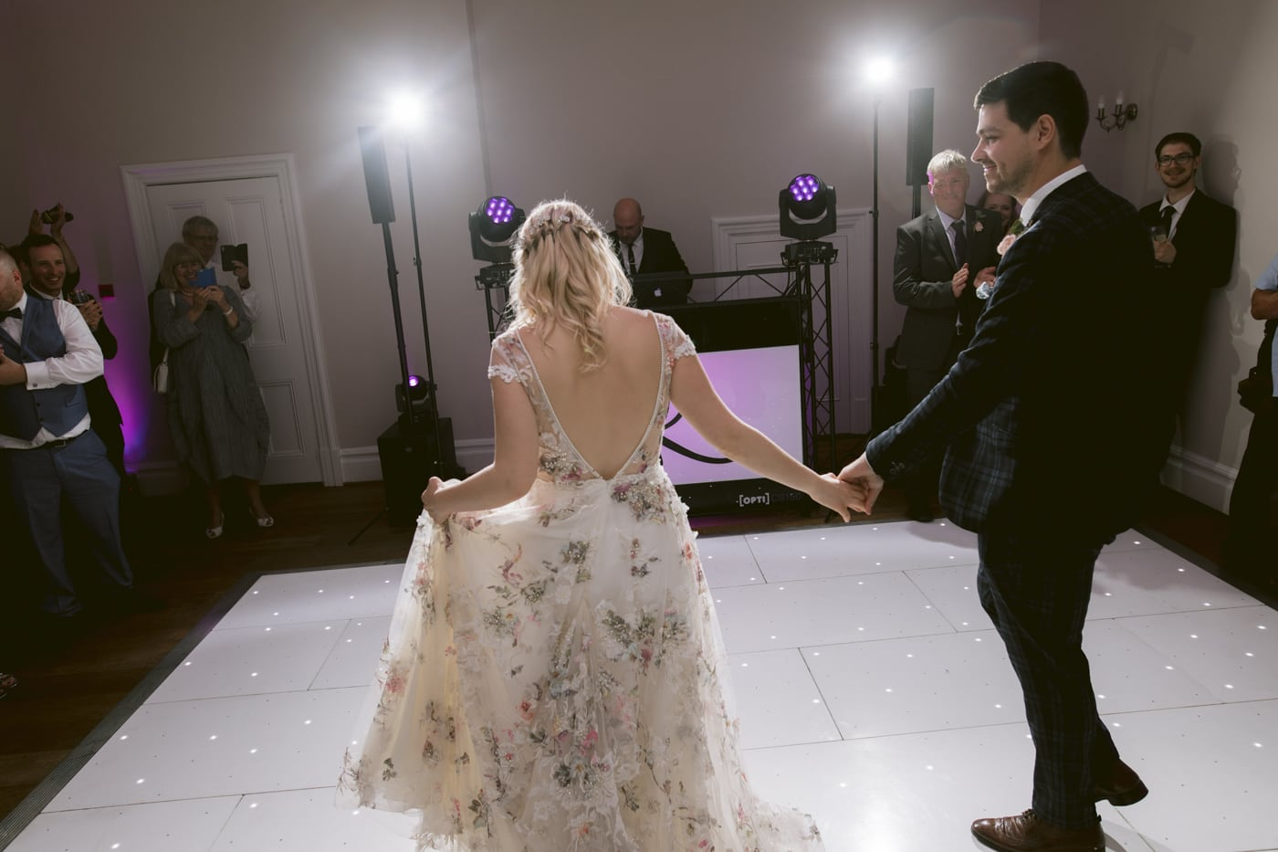 Bride and Groom Together Last Dance at Storrs Hall Wedding