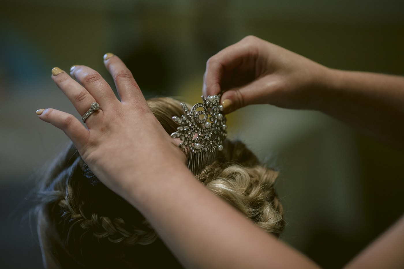 Wedding Hair pin Shot at Roundthorn Country house