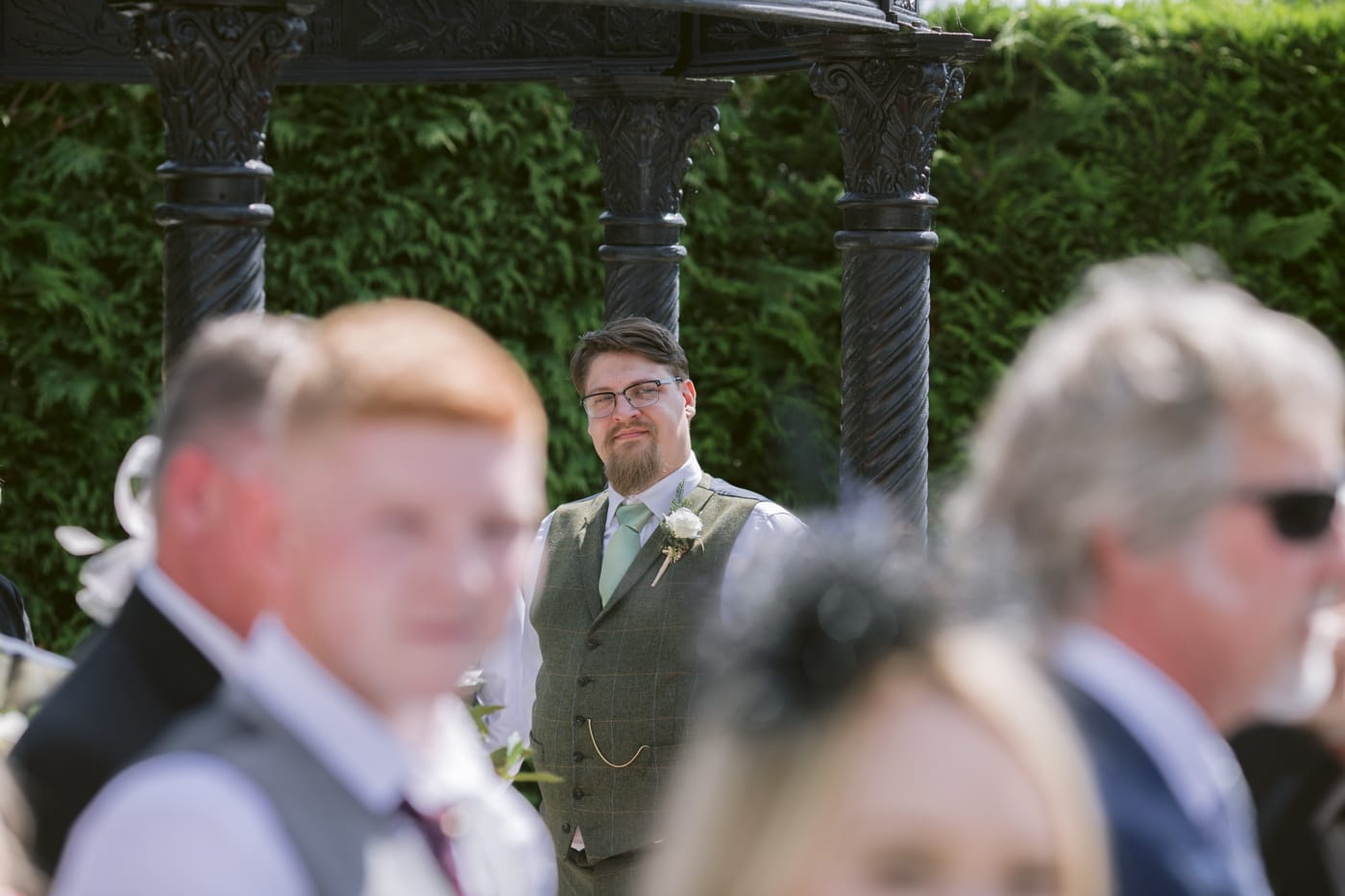 Man in background Portrait Shot at Roundthorn Country house