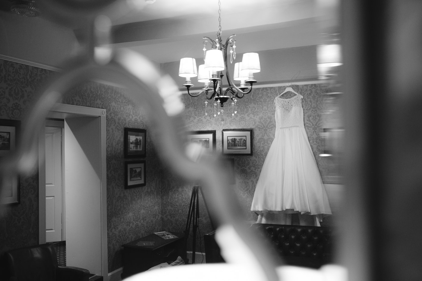 Dressing room Wedding Shot at Roundthorn Country House