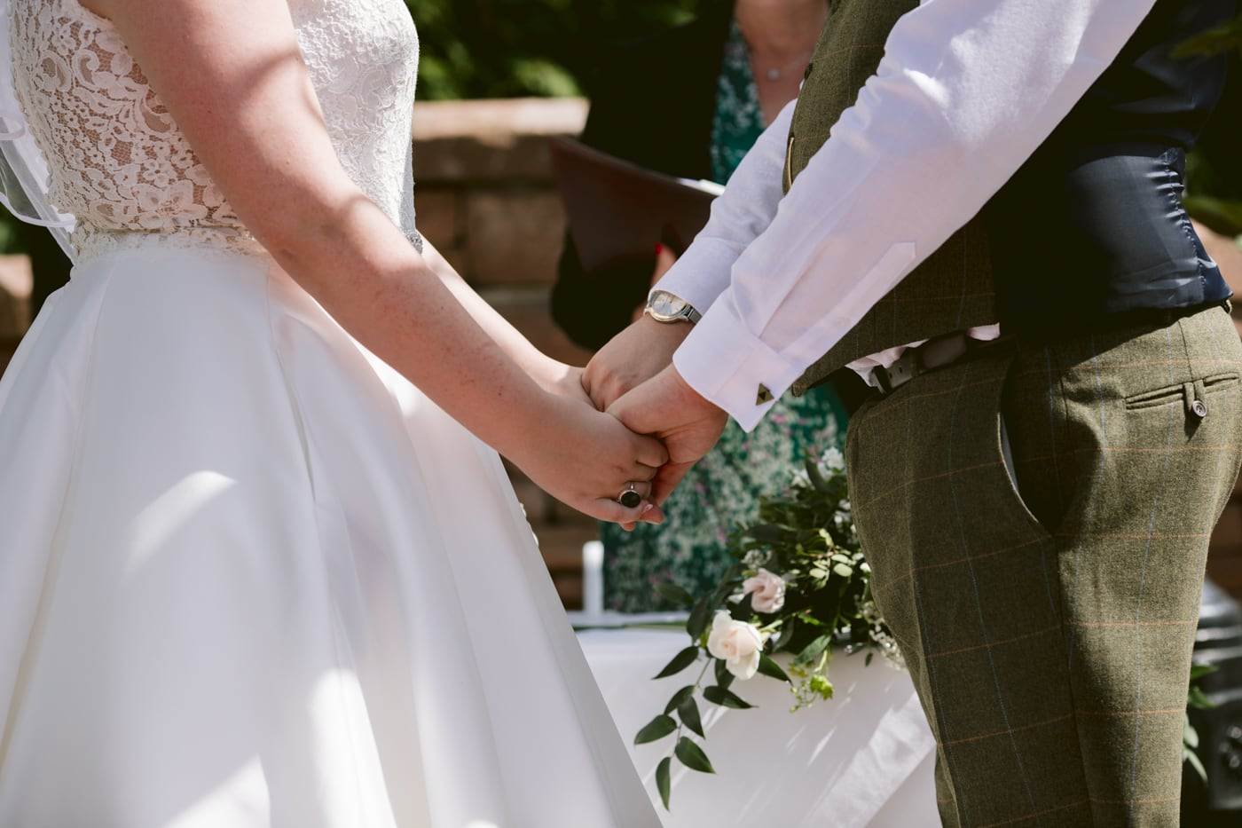 Bride and Groom Vows at Roundthorn Country House