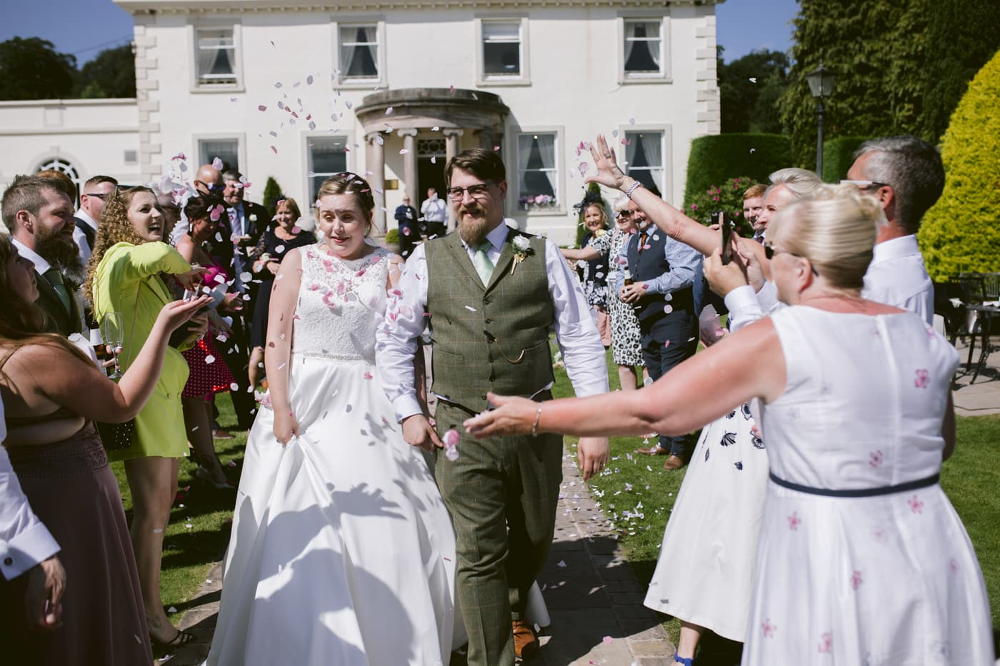Bride and Groom Celebrations at Roundthorn Country house