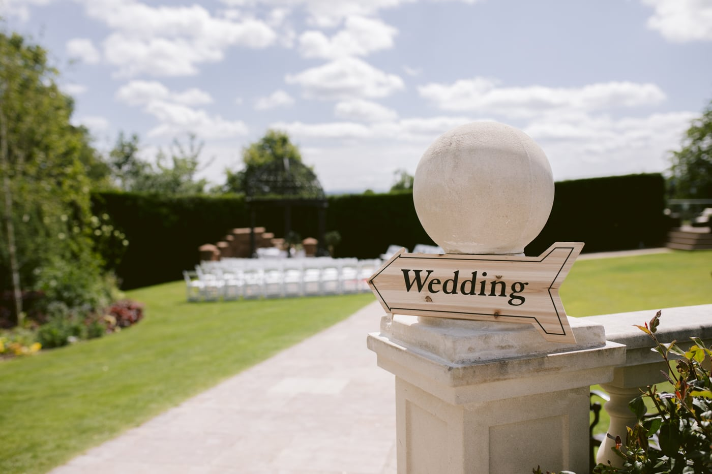 Outside Wedding Venue at Roundthorn Country house