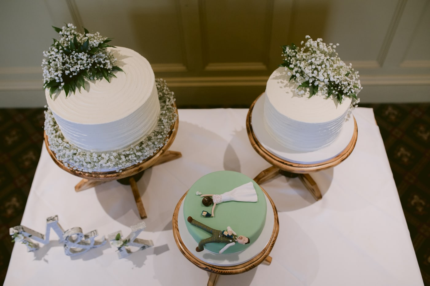 Bride and Groom Cake's at Roundthorn Country House
