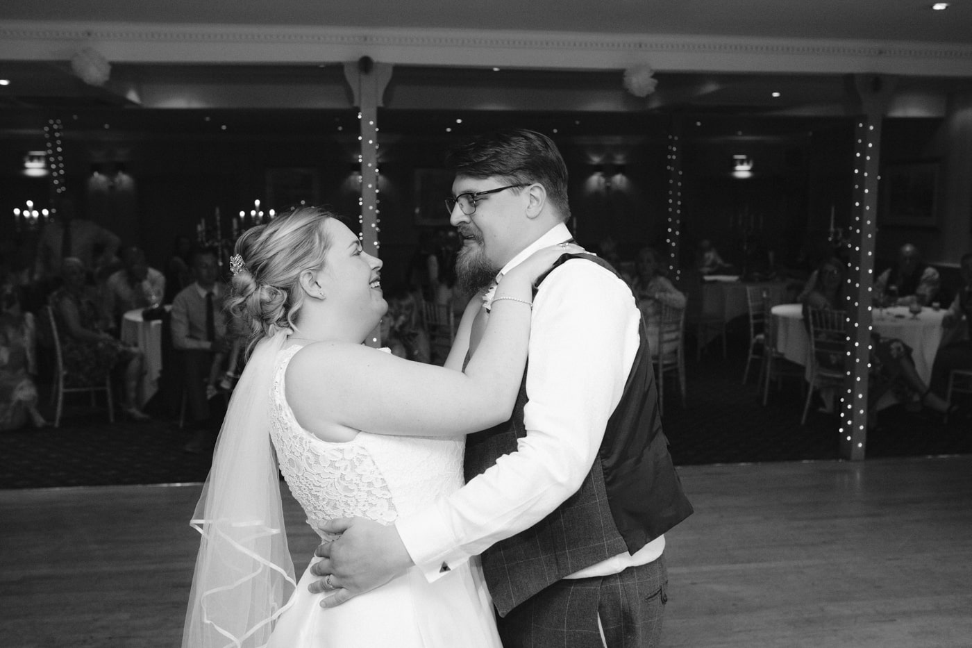 Bride and Groom Last Dance Together at Roundthorn Country House