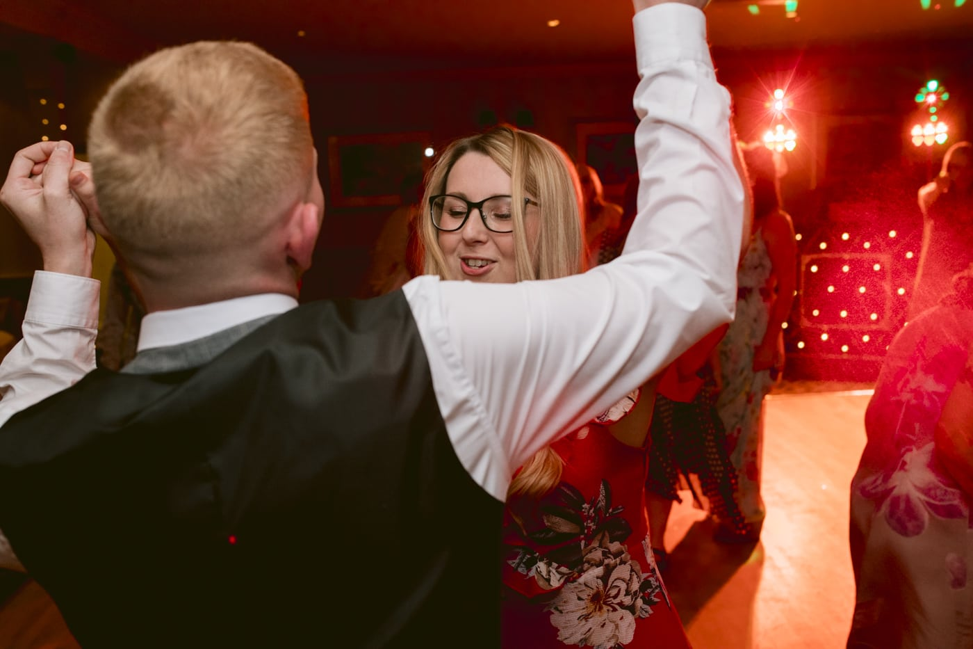 Guest Celebrations Dancing Together at Roundthorn Country House