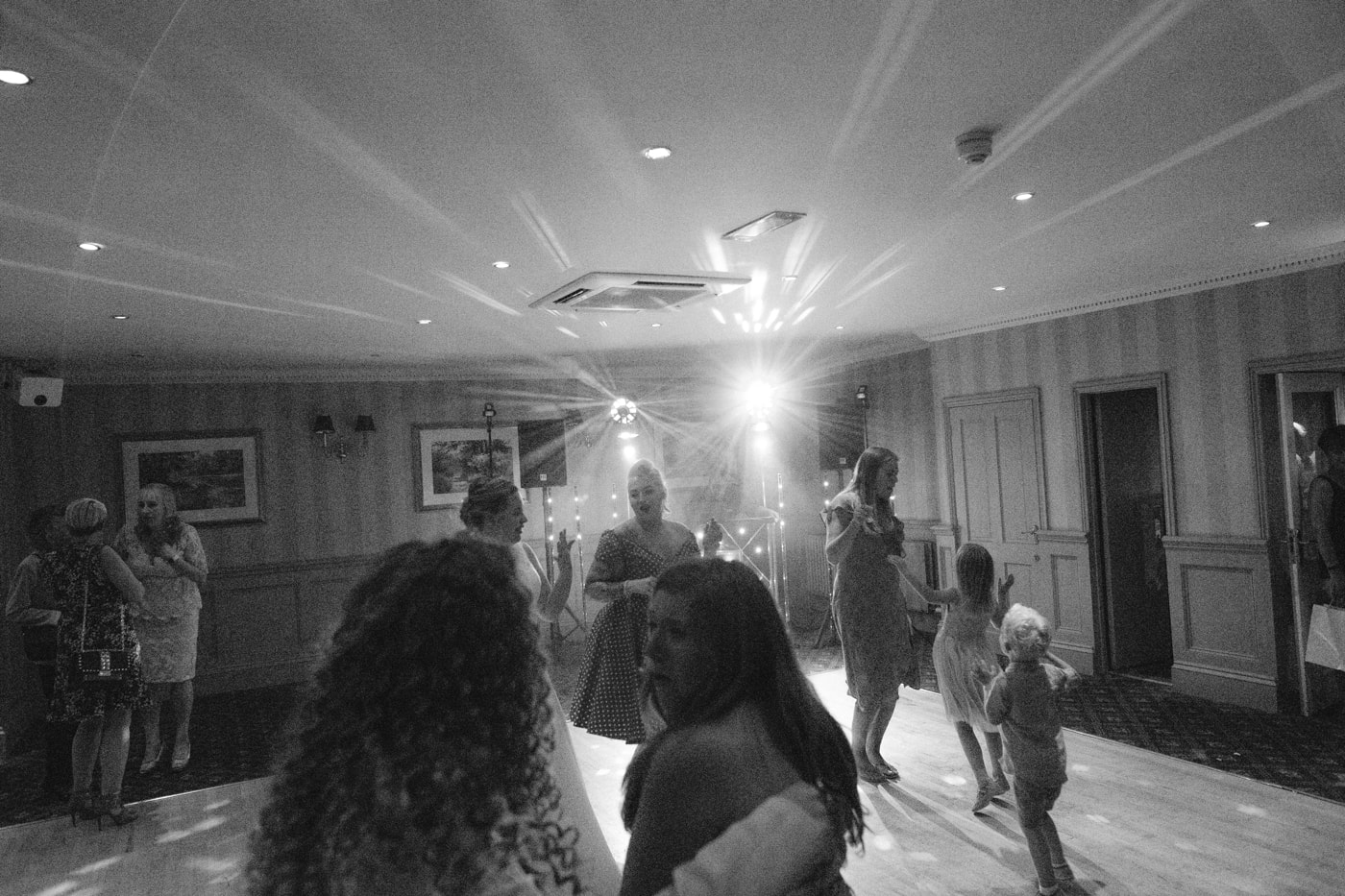 Group Guests Dancing Together at Roundthorn Country House